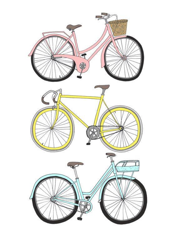 Bicycles Large por emmakisstina en Etsy, kr200.00