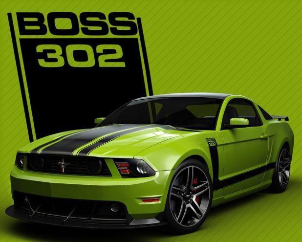 The Green Monster Boss 302 Mustang