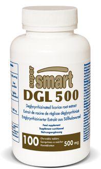 DGL 500 mg - La réglisse est utilisée avec succès depuis une centaine d'années pour traiter les ulcères peptiques et gastriques. L'extrait de racine de réglisse déglycyrrhinisé, ou DGL, apporte les bénéfices de la réglisse entière mais sans les effets secondaires de l'acide glycyrrhinique.
