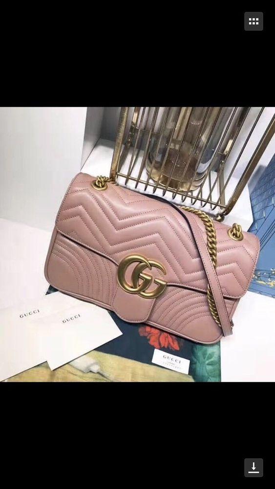 e24e08ee2c8584 Gucci Nude Pink Medium GG Marmont 2.0 Matelassé Leather Shoulder Bag # fashion #clothing #