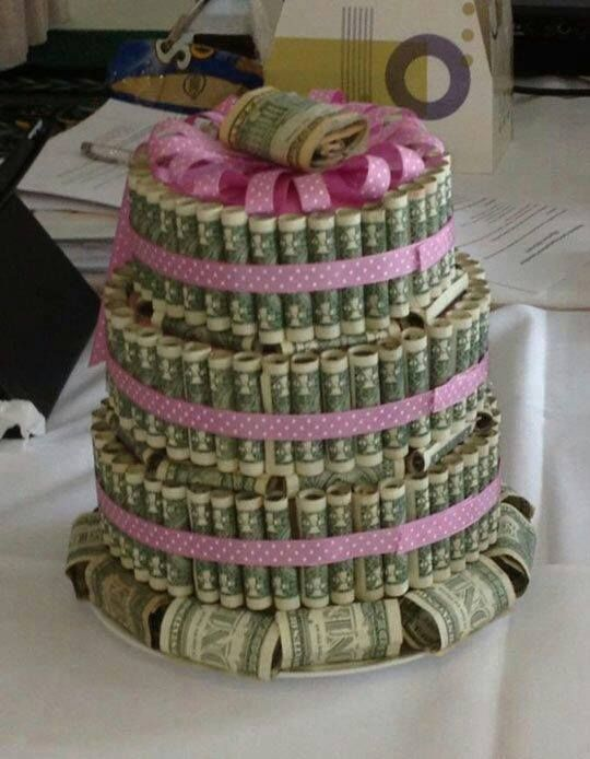 How would YOU like to get a Dollar Bill Birthday Cake? Cool idea or tacky? I found it at uRecipes.com. I love this site!