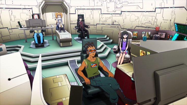 Bohaterowie Ars Nova na pokładzie okrętu I-401