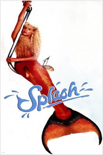 SPLASH movie poster darryl HANNA mermaid tail HOOK blonde