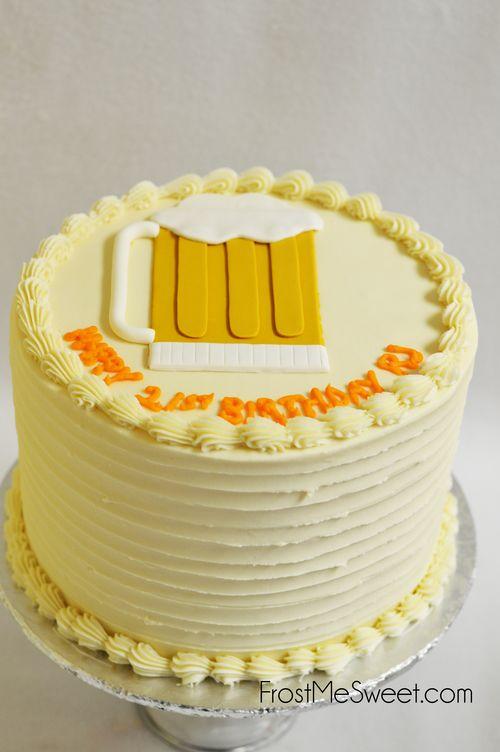 Basic Beer Mug Cake   FMS Cakes for Men   Pinterest   Cupcake bakery ...