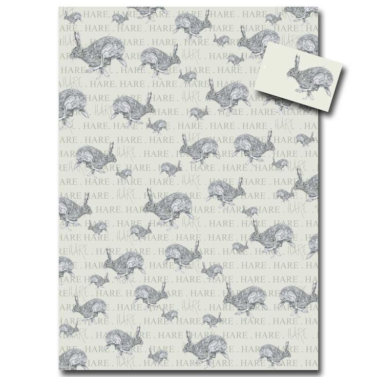 Horace Hare Wrapping Paper by Sarah Boddy