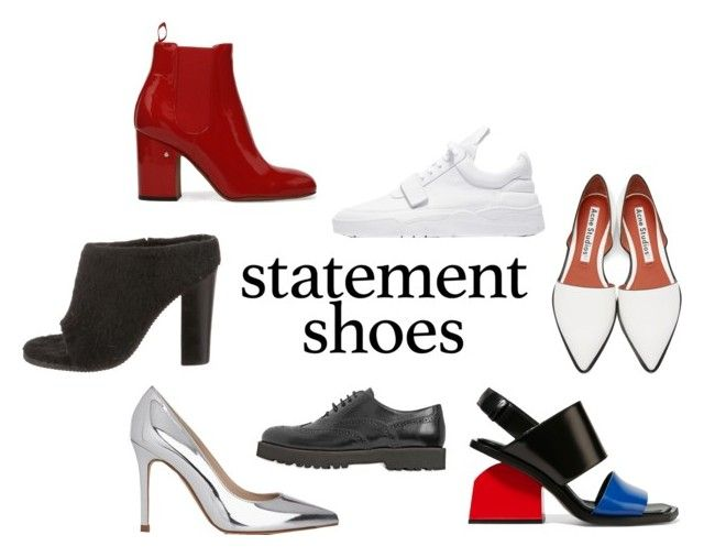 """statement shoes"" by ksasya on Polyvore featuring Marni, TIBI, Acne Studios, Hogan, L.K.Bennett, shoes and statementshoes"