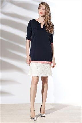 Zanzi - Lacivert Elbise 14477 ile Trendyol da #fashion #SLN #summer