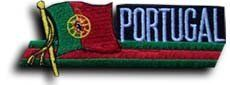 """Portugal - Country Flag Patch by Flagline. $2.75. 4.5"""" x 1.5"""" Flag Patch. Our flag patches feature a flag, flying above the name, and can be sewn on or ironed on.  Actual size is approximately 4.5"""" x 1.5"""". Save 30%!"""