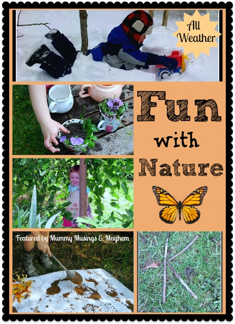 A fantastic Co-Op feature of fun play ideas with nature...no matter what the weather! What are you linking up to The Kid's Co-Op this week?