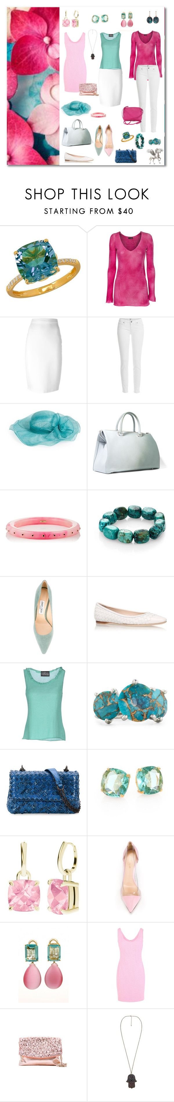 turquoise and cool pink wardrobe capsule by sensual-spirit on Polyvore featuring Moschino, Avant Toi, Fontana Couture, Paige Denim, Givenchy, Gianvito Rossi, Bottega Veneta, Jimmy Choo, Jil Sander and MANGO