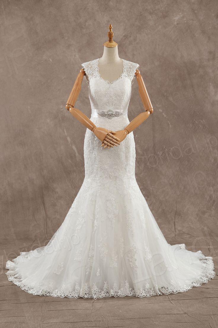 ウェディングドレス ハートネック マーメイド オープンバックのデザイン ベルト JWZT15002 税込: ¥63,180