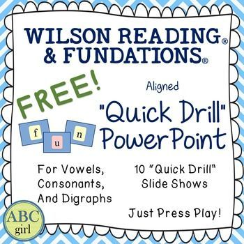 "FREE ""Quick Drill"" PowerPoint for SMARTBoard Phonics Review"