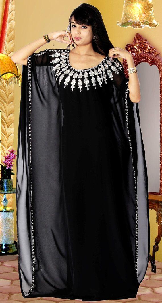 Dubaï très chic caftan / abaya jalabiya dames robe maxi robe de mariée boucles d'oreilles: dubaï abaya – Witchy Beauty and Fashion