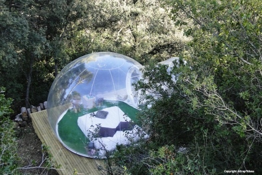 The New Camping: Clear Bubble Tents