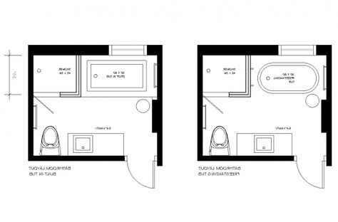 8x8 bathroom floor plan with shower | picture of small
