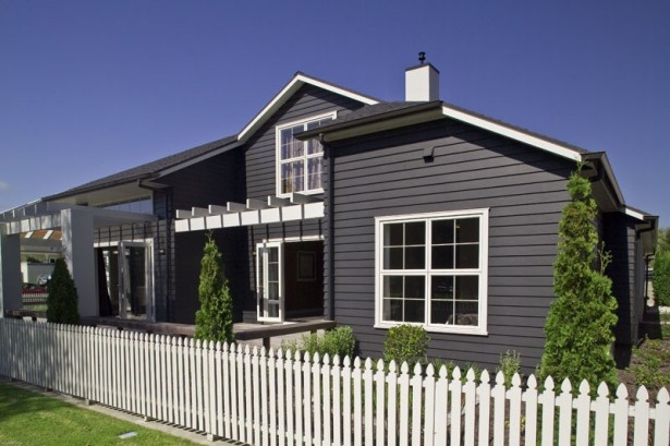 Linea weatherboard in black like the darker colour vs for Weatherboard house designs