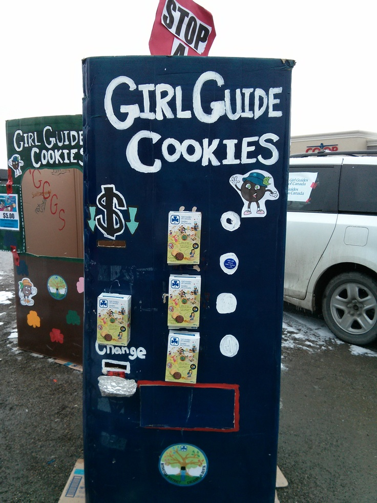 Girl Guide Cookie Vending maching at Coop Creekside, Calgary, AB. I was with the girls. Anyone want to buy cookies?