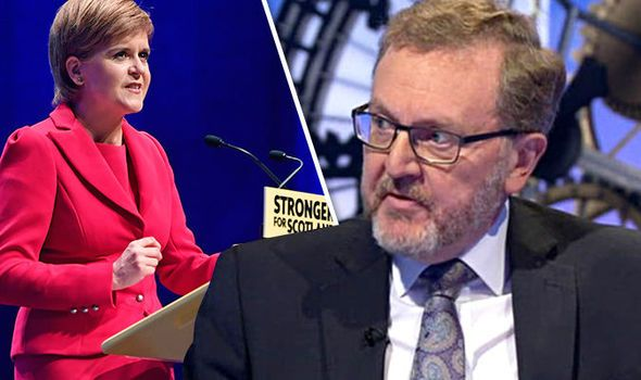 David Mundell said it was impossible for Scotland to be part of the EU and the UK