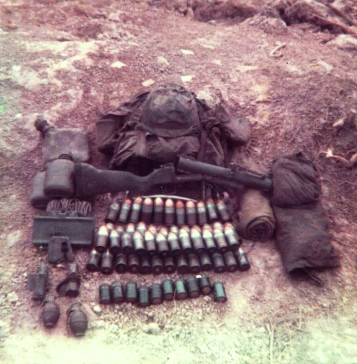 Equipment carried by infantry soldier assigned to the M79 grenade launcher.