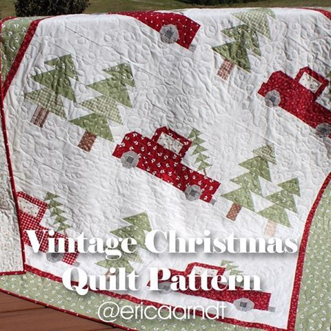 It's the perfect time to start a Christmas quilt! 🎄🎄🎄 the Vintage Christmas pattern is available in my store! (Link in bio, click 'store', then 'quilt patterns') #sewing #quilting #showmethemoda #christmasquilt #vintagechristmasquilt