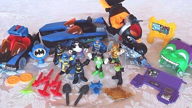 IMAGINEXT DC Super Batman Figures Batmobile Hawkman GREEN LANTERN Penguin FP LOT #FisherPriceImaginextMattelDCComics