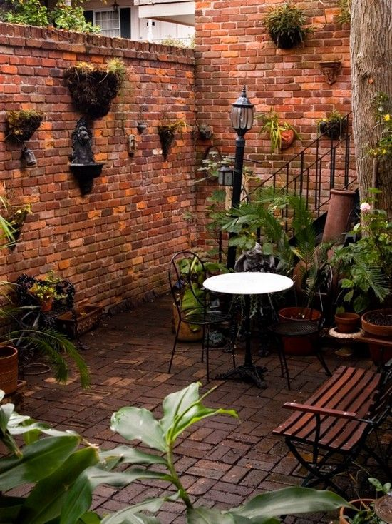 Courtyard of a bed-and-breakfast in the New Orleans French Quarter.
