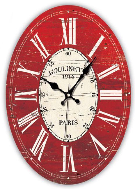 Eskitme Antik Ahşap Duvar Saati  Ürün Bilgisi;  MDF gövde Sessiz akar saniye Çap 32 x 45 cm. Çok şık ve eskitme ahşap duvar saati Yeni model duvar saati Ürün resimde olduğu gibidir Farklı tasarım Renk : Kırmızı