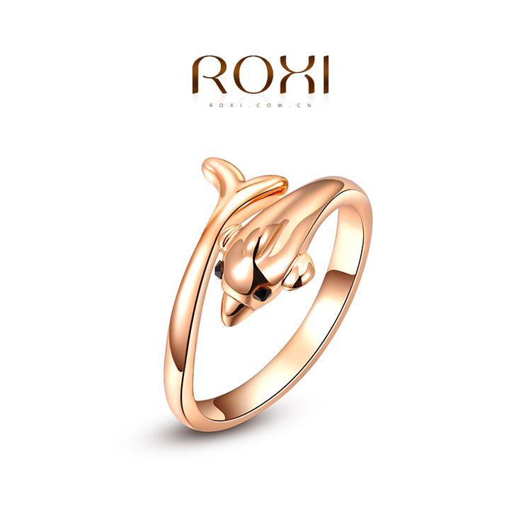 Ring met Dolfijn Motief Rose Verguld
