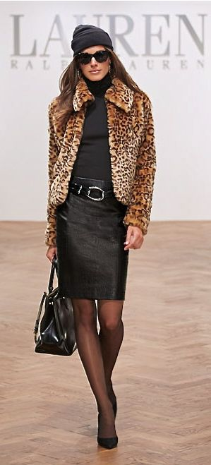 Ralph Lauren, cute jacket, even with jeans -- here's hoping that that fur is faux!