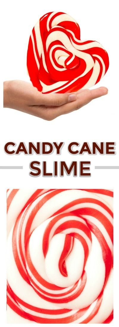 CANDY CANE SLIME: Easy to follow recipe, and smells just like Christmas!