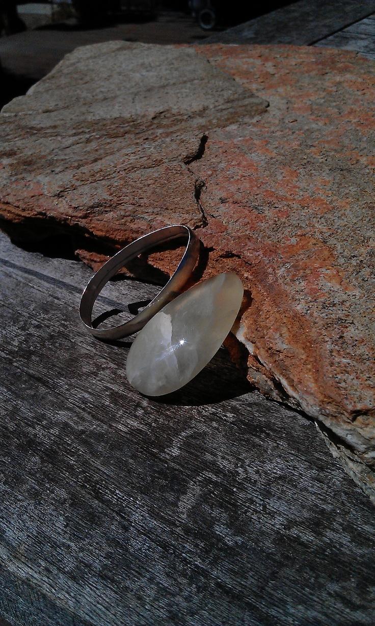 Makings of prehnite pendant