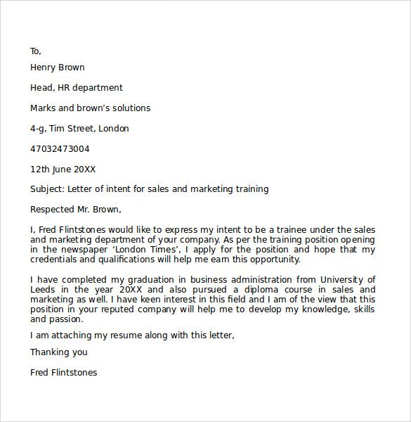 17 best Letter of Intent Template images on Pinterest A letter - cover letter for sales