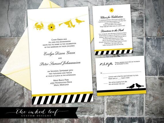 Wedding Invitations In Maryland: Baltimore Charm City Wedding Invitation Suite W/ Oriole