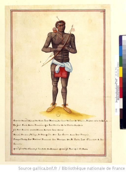 Guerrier renard, 1731
