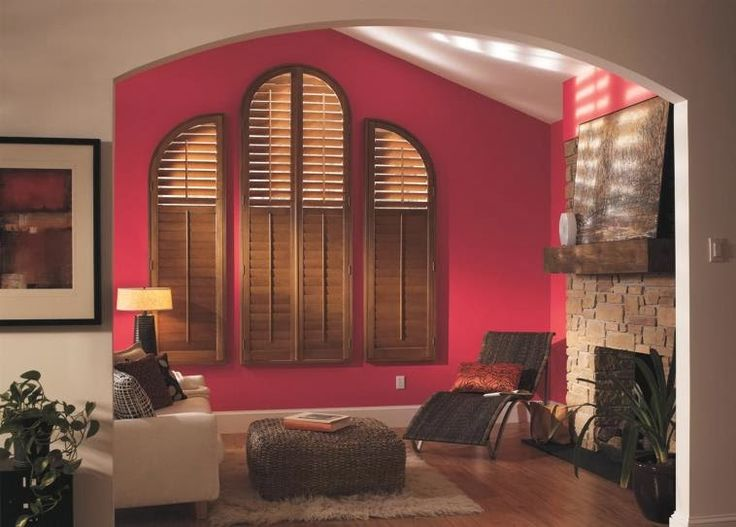 Budget Blinds can get custom shutters made to fit your tricky windows!