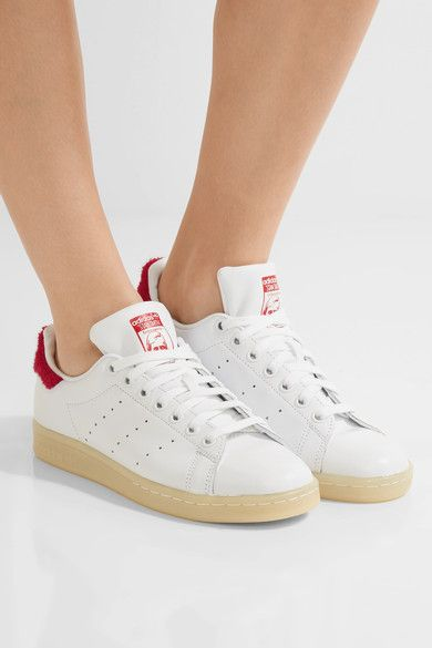 adidas Originals - Stan Smith Winter Terry-trimmed Leather Sneakers - White - US8.5