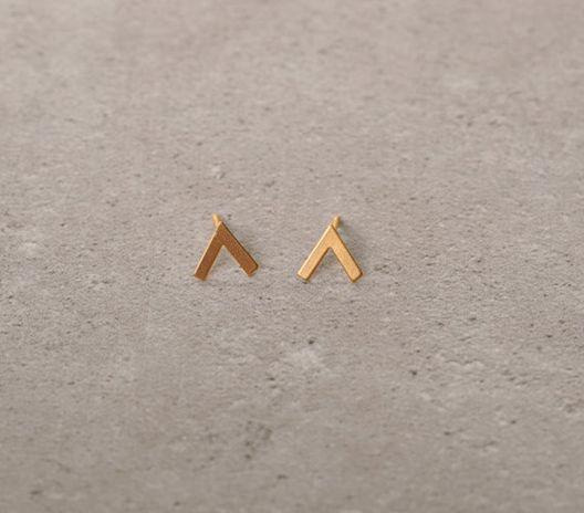 v shaped earrings.