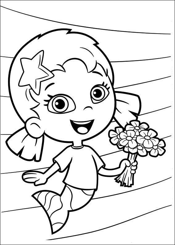 Desenhos para pintar Bubble Guppies 28