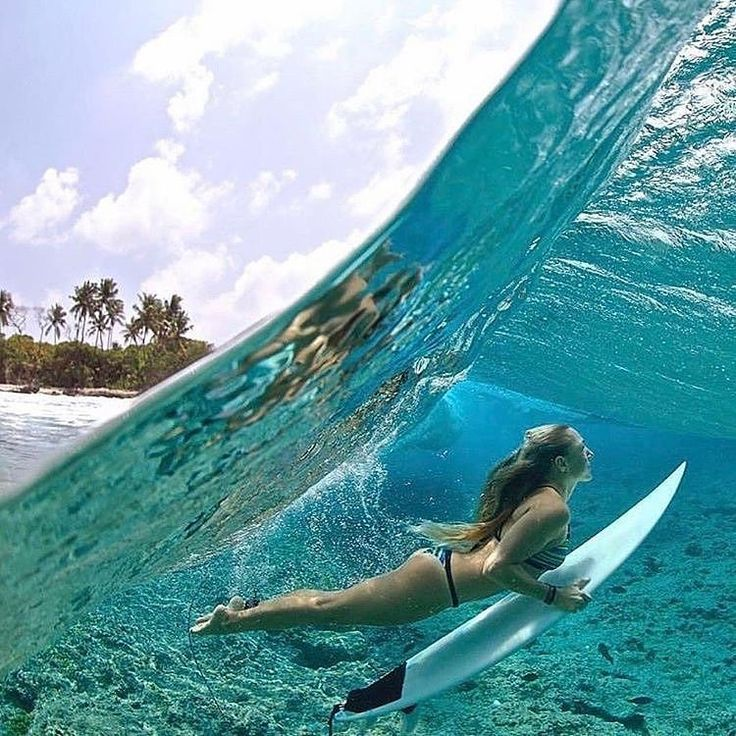 Follow @earthfever for top travel content. Maldives waves. Photo by @richard_kotch