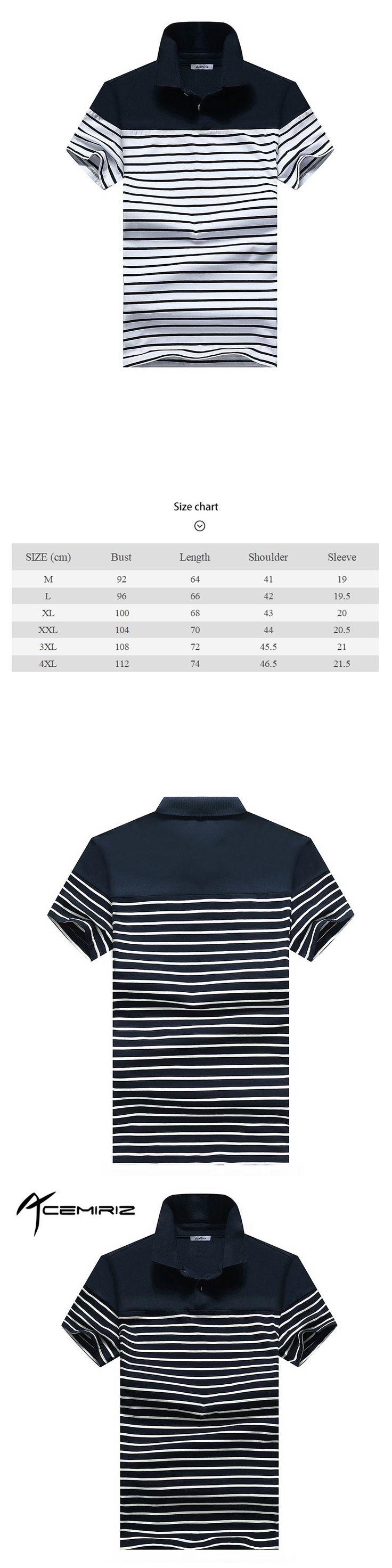ACEMIRIZ Stripe Polo Shirts Men 2017 New Short Sleeve Striped Polo Shirts For Men Summer Turn-down HT-1732