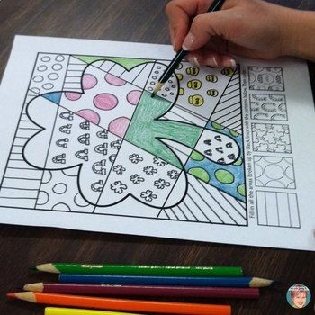 """St. Patrick's Day Activities - """"Pop Art"""" interactive coloring sheets + pattern-filled designs. This set of """"pop art"""" coloring sheets features a variety of St. Patrick's Day images that are both challenging and fun for students and make a great accompaniment to your lessons."""