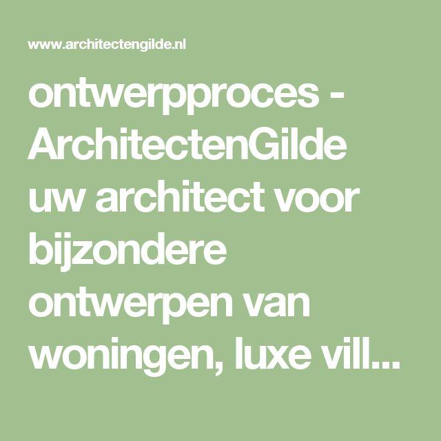 ontwerpproces - ArchitectenGilde uw architect voor bijzondere ontwerpen van woningen, luxe villa's en bedrijfsgebouwenArchitectenGilde uw architect voor bijzondere ontwerpen van woningen, luxe villa's en bedrijfsgebouwen