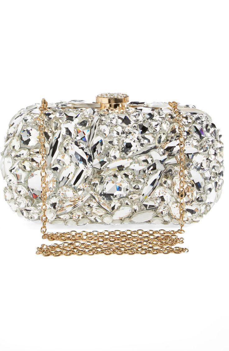 This crystal encrusted convertible clutch is simply breathtaking.
