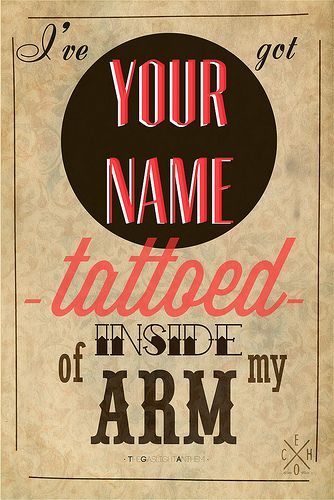 T A T T O E D || American Slang by The Gaslight Anthem