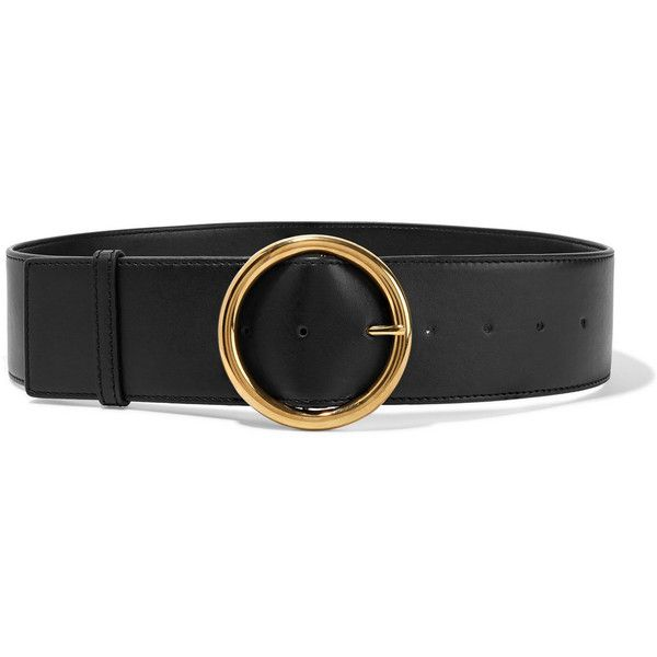 Stella McCartney Faux leather waist belt ($375) ❤ liked on Polyvore featuring accessories, belts, black, thick belts, studded belt, fat belt, stella mccartney and wide belt