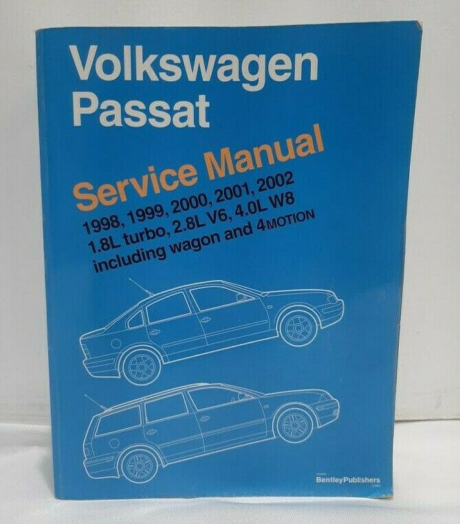 Bentley Factory Repair Manual Volkswagen Passat 1998 2002 Free Shipping Volkswagen Passat Volkswagen Repair Manuals