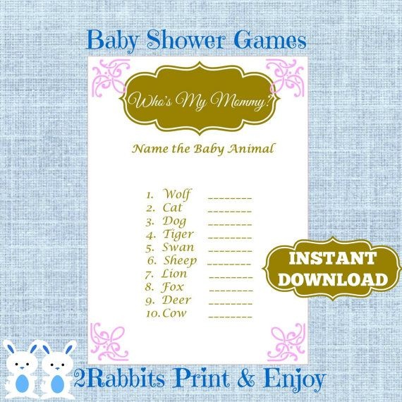 Baby Shower Game Name The Baby Animal: 17 Best Images About Princess Baby Shower On Pinterest