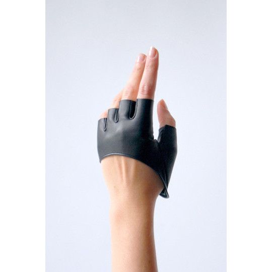 Chic Leather Half Gloves Fingerless