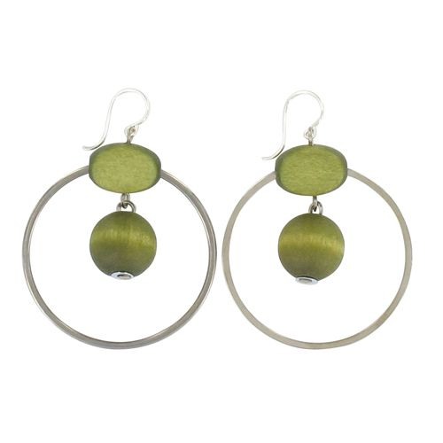 aarikka Olive Pihlaja Earrings $48.00