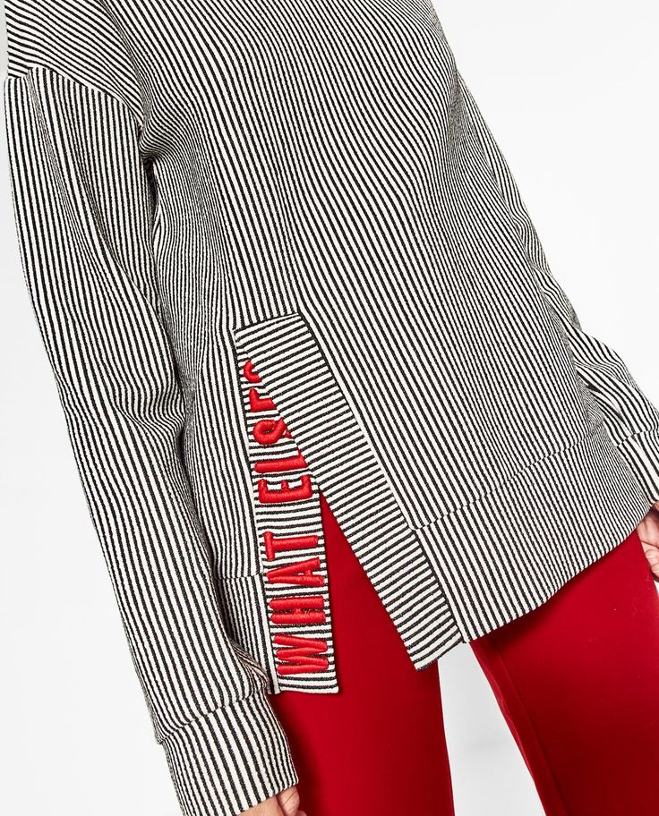 EMBROIDERED TEXT SWEATSHIRT - SWEATSHIRTS-WOMAN | ZARA United States